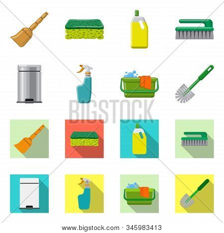 Vector Illustration Of Cleaning And Service Icon. Set Of Cleaning And Household Stock Vector Illustr