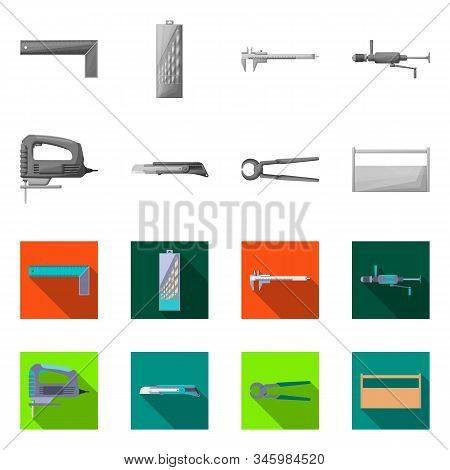 Isolated Object Of Renovation And Household Logo. Collection Of Renovation And Handicraft Vector Ico