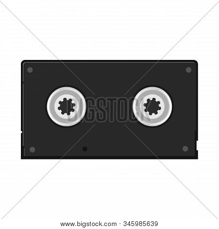 Vector Illustration Of Videotape And Reel Symbol. Web Element Of Videotape And Videocassette Stock S