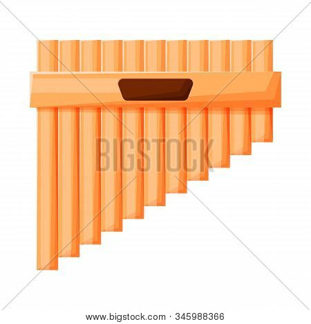 Vector Illustration Of Flute And Pan Logo. Web Element Of Flute And Panpipe Stock Vector Illustratio