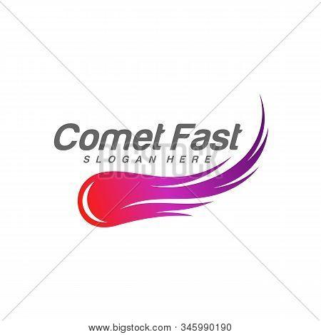 Comet Logo Vector, Comet Logo Design Template, Icon Symbol, Illustration