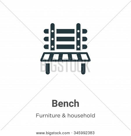 Bench icon isolated on white background from furniture and household collection. Bench icon trendy a
