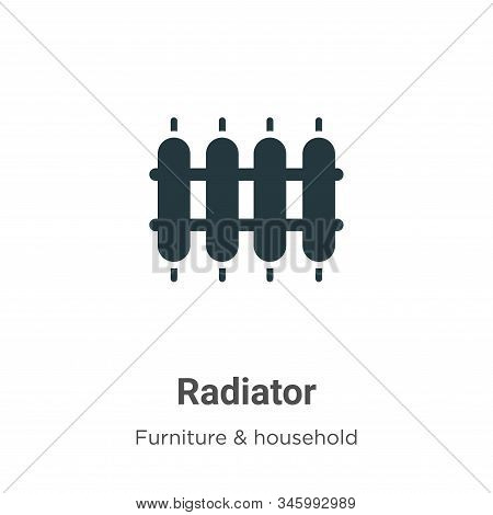Radiator Vector Icon On White Background. Flat Vector Radiator Icon Symbol Sign From Modern Furnitur