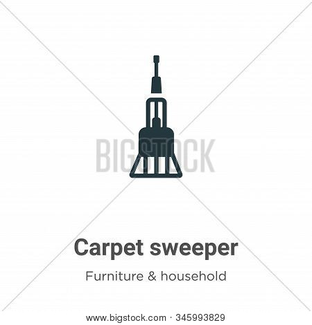 Carpet sweeper icon isolated on white background from furniture and household collection. Carpet swe