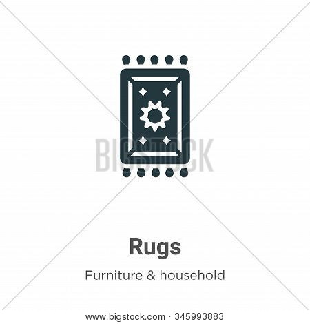 Rugs icon isolated on white background from furniture and household collection. Rugs icon trendy and