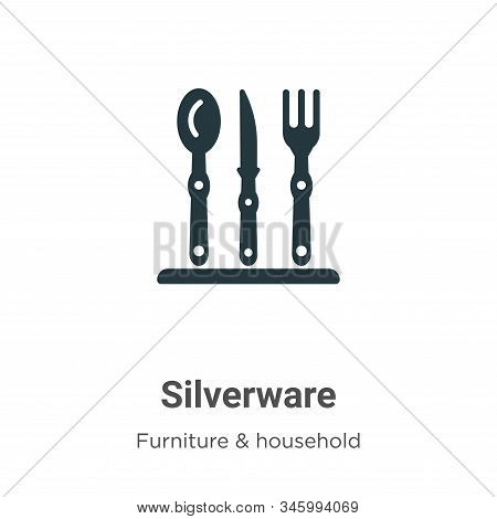 Silverware icon isolated on white background from furniture and household collection. Silverware ico