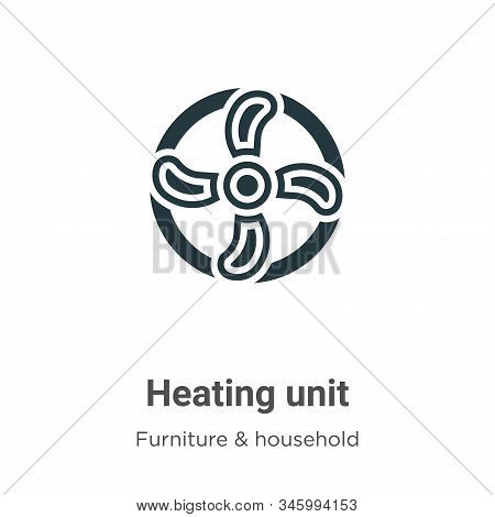 Heating unit icon isolated on white background from furniture and household collection. Heating unit
