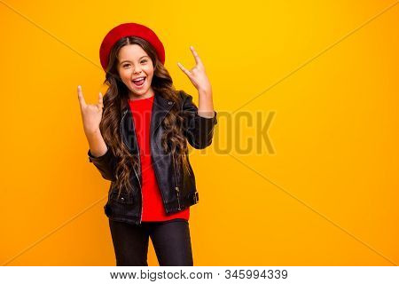 Portrait Of Her She Nice Attractive Lovely Cool Crazy Cheerful Cheery Long-haired Girl Wearing Stree