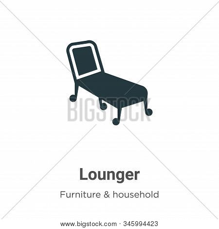 Lounger icon isolated on white background from furniture and household collection. Lounger icon tren