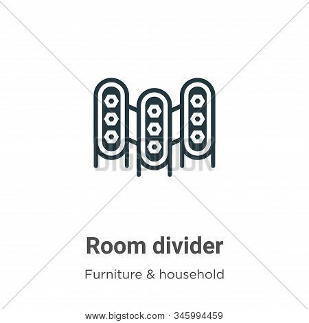 Room divider icon isolated on white background from furniture and household collection. Room divider
