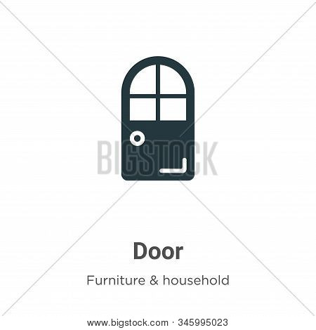 Door icon isolated on white background from furniture collection. Door icon trendy and modern Door s