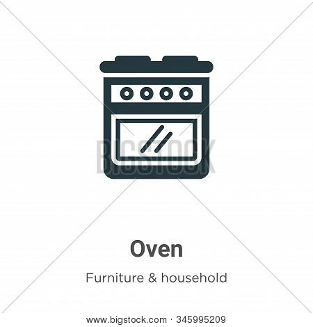 Oven icon isolated on white background from furniture collection. Oven icon trendy and modern Oven s