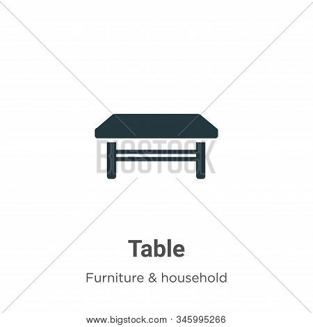 Table icon isolated on white background from furniture collection. Table icon trendy and modern Tabl
