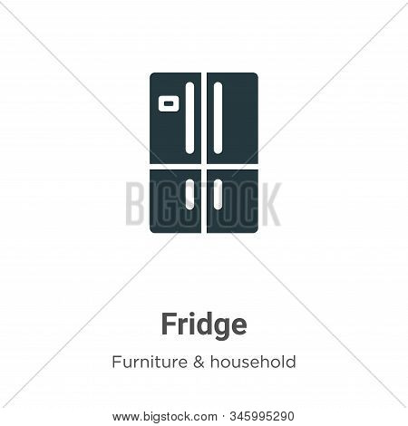 Fridge icon isolated on white background from furniture collection. Fridge icon trendy and modern Fr