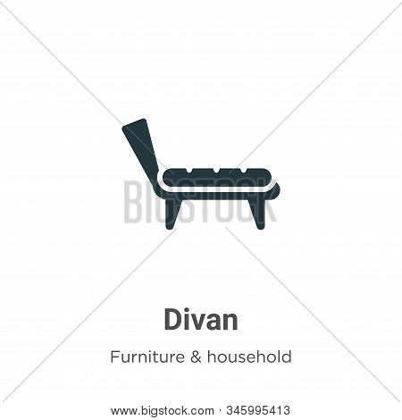 Divan icon isolated on white background from furniture collection. Divan icon trendy and modern Diva