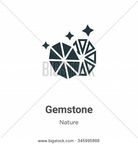 Gemstone icon isolated on white background from nature collection. Gemstone icon trendy and modern G
