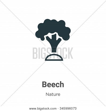 Beech icon isolated on white background from nature collection. Beech icon trendy and modern Beech s