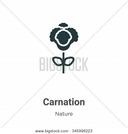Carnation icon isolated on white background from nature collection. Carnation icon trendy and modern