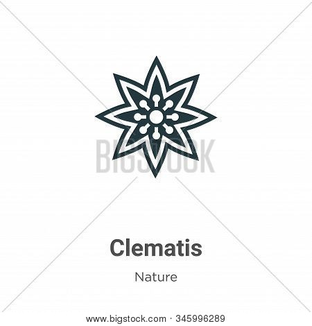 Clematis icon isolated on white background from nature collection. Clematis icon trendy and modern C