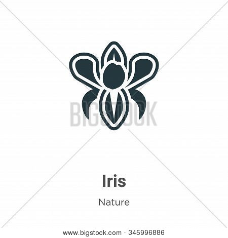 Iris icon isolated on white background from nature collection. Iris icon trendy and modern Iris symb