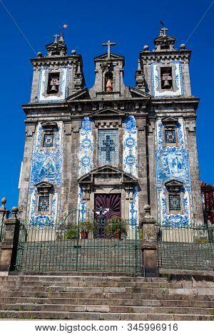The Igreja De Santo Ildefonso An Eighteenth-century Church In The City Of Porto In Portugal
