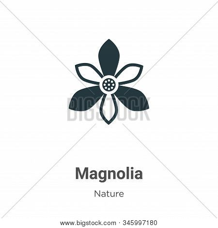 Magnolia icon isolated on white background from nature collection. Magnolia icon trendy and modern M
