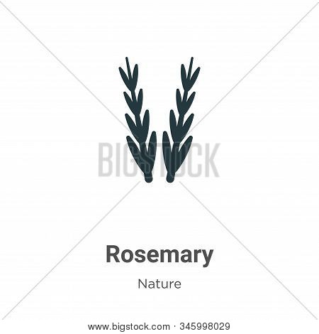 Rosemary icon isolated on white background from nature collection. Rosemary icon trendy and modern R