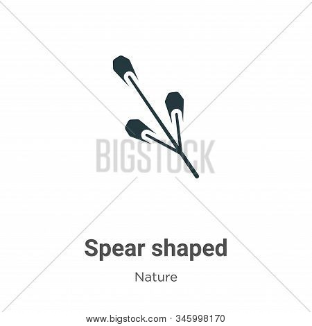 Spear shaped icon isolated on white background from nature collection. Spear shaped icon trendy and