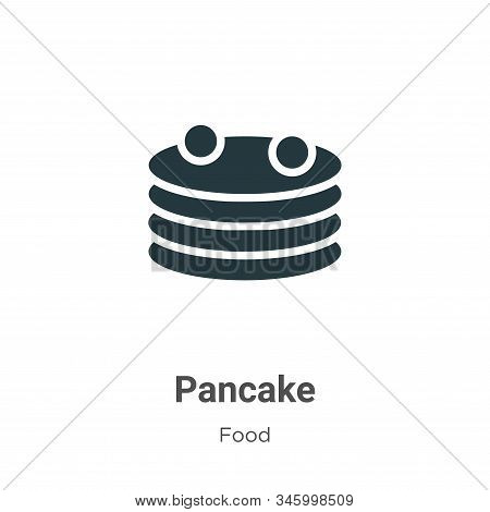 Pancake icon isolated on white background from food collection. Pancake icon trendy and modern Panca