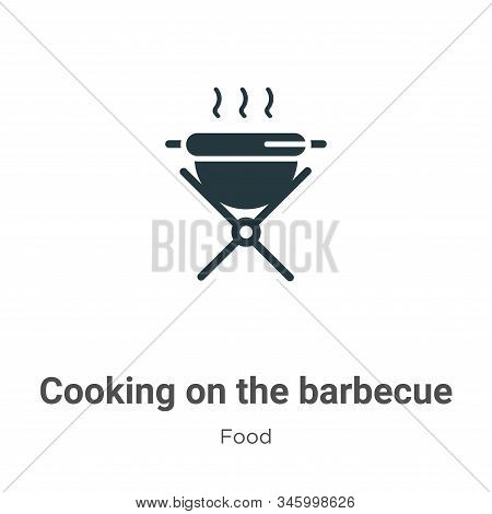 Cooking on the barbecue icon isolated on white background from food collection. Cooking on the barbe
