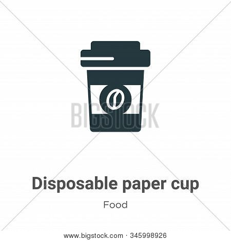 Disposable Paper Cup Vector Icon On White Background. Flat Vector Disposable Paper Cup Icon Symbol S