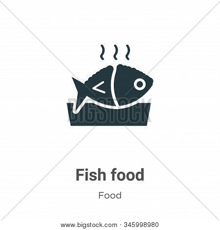 Fish food icon isolated on white background from food collection. Fish food icon trendy and modern F