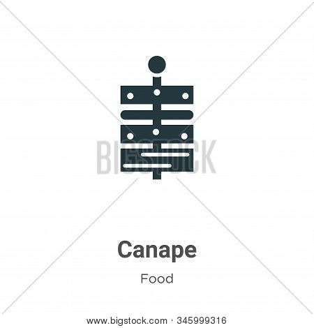 Canape Vector Icon On White Background. Flat Vector Canape Icon Symbol Sign From Modern Food Collect