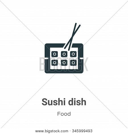Sushi dish icon isolated on white background from food collection. Sushi dish icon trendy and modern