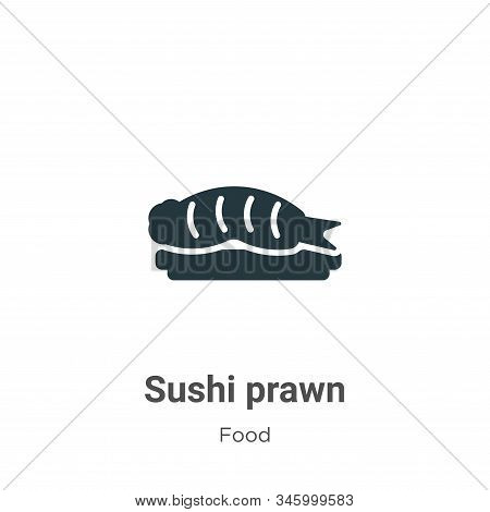 Sushi prawn icon isolated on white background from food collection. Sushi prawn icon trendy and mode