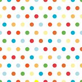 Polka Dots background pattern in bright colors poster