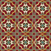 Arabic seamless pattern in editable vector file poster
