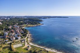 An Aerial Photo Of Pula From The Stoja Peninsula