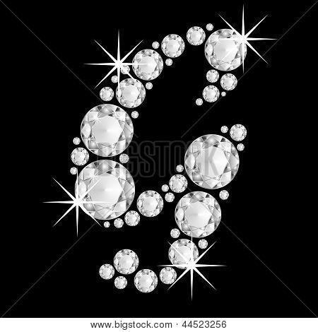 Luxury jewelry alphabet diamonds G