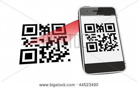 smartphone QR code scan