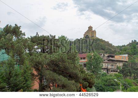 Panorama Of Georgian Orthodox Church Of The 6Th Century Near Mtskheta, Jvari