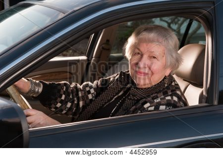 86 Year Old Woman  Drivingr Car