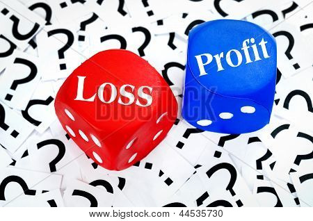 Loss Or Profit Word