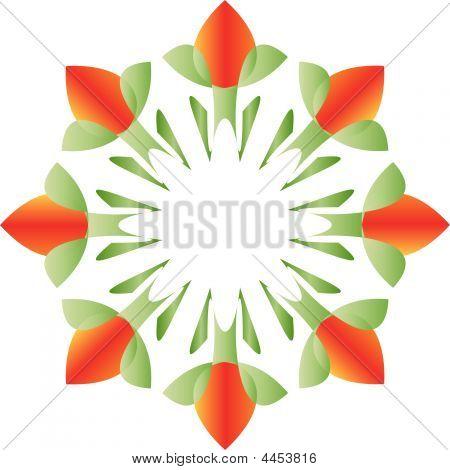 Tulips Mandala Vector