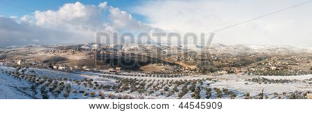 View Of Palestine In Winter - West Bank, Israel