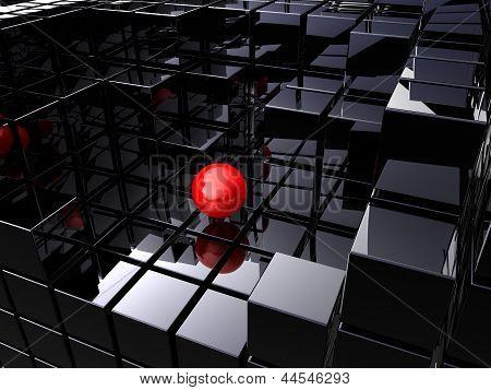 Alone On Black Cubes