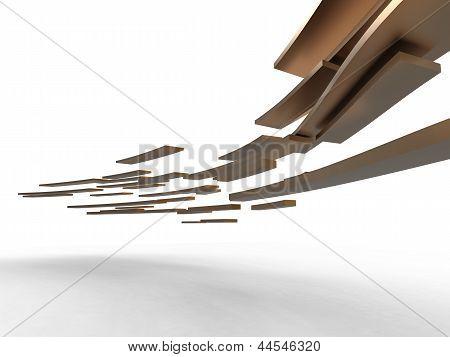 Gloden Flying Plates