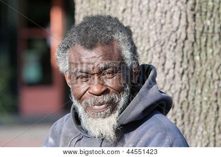 Elderly African American Homeless Man