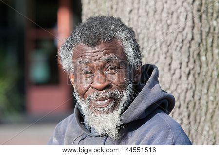 Elderly Homeless African American Man