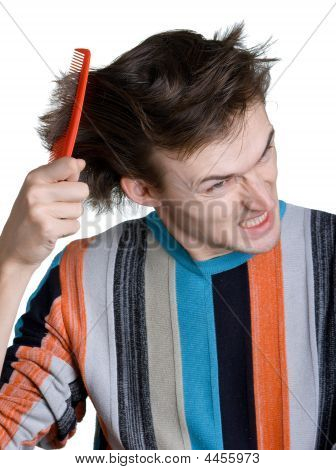 Young Man With The Hairbrush